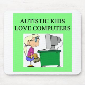autistic kids love computers mouse pad