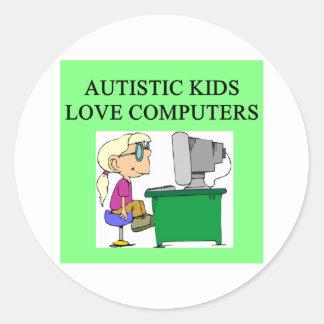 autistic kids love computers stickers