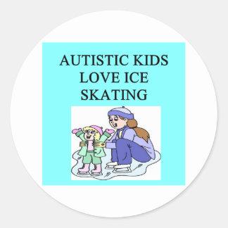autistic kids love ice skating stickers