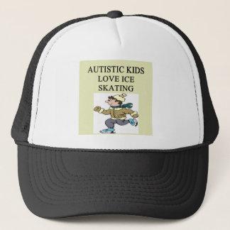 autistic kids love ice skating trucker hat