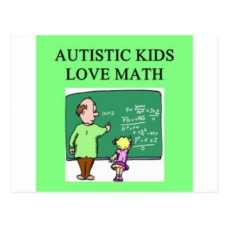 autistic kids love math postcard