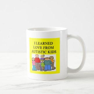 autistic kids love classic white coffee mug