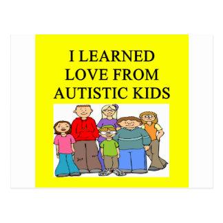 autistic kids love postcard