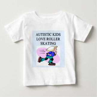 autistic kids love roller skating baby T-Shirt