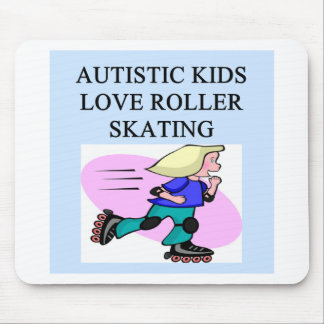 autistic kids love roller skating mouse pad