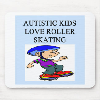 autistic kids love rollerskating mouse pad