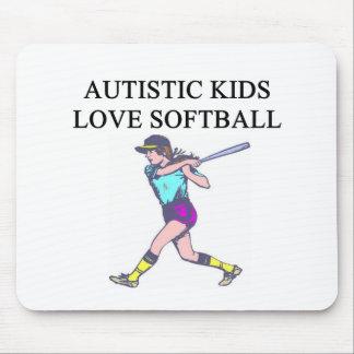 autistic kids love softball mouse pad