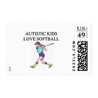 autistic kids love softball postage