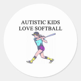 autistic kids love softball sticker