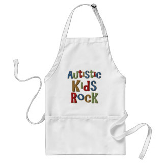 Autistic Kids Rock Tee Shirts and Gifts Adult Apron