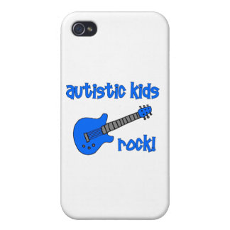 Autistic Kids Rock with Guitar (multiple colors) iPhone 4 Case