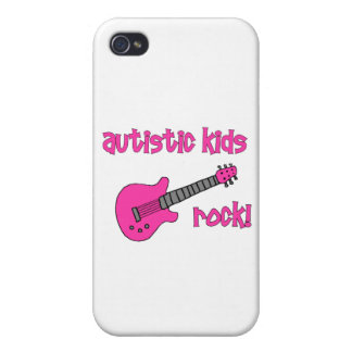 Autistic Kids Rock with Guitar (multiple colors) Cover For iPhone 4