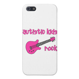 Autistic Kids Rock with Guitar (multiple colors) iPhone 5 Cover