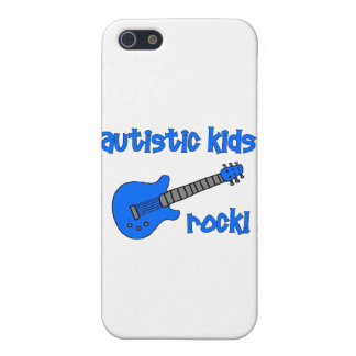 Autistic Kids Rock with Guitar (multiple colors) iPhone SE/5/5s Case