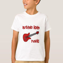 Autistic Kids Rock with Guitar (multiple colors) T-Shirt