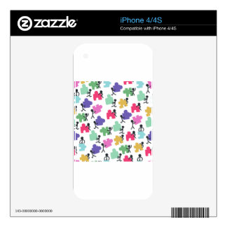 autistic people decal for iPhone 4