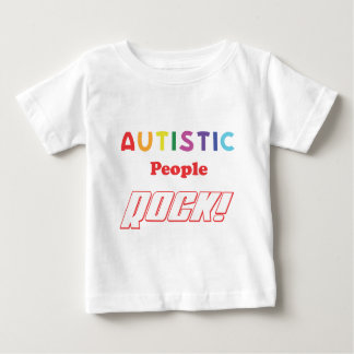 Autistic people rock! baby T-Shirt