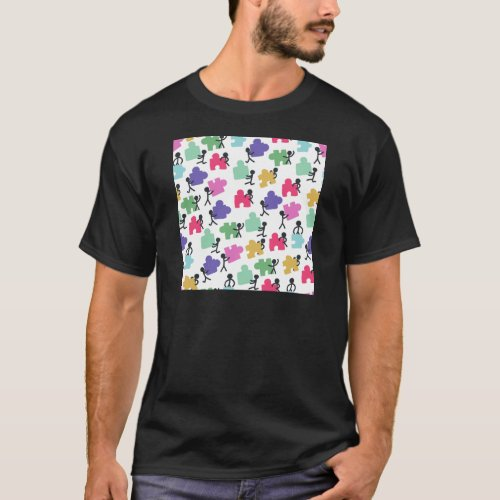 Autistic people T-Shirt for Adults, Children and Infants - Autism Puzzle