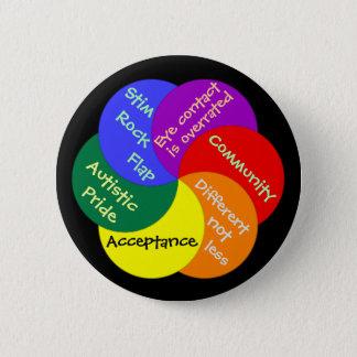 Autistic Pride always Pinback Button