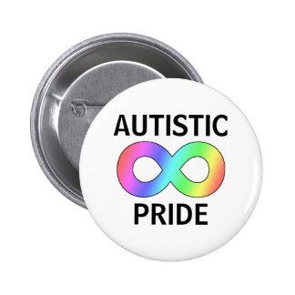 Autistic pride 2 inch round button