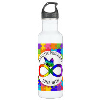 Autistic Pride Day June 18 Awareness Water Bottle
