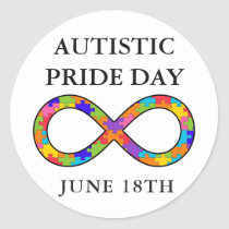 Autistic Pride Day June 18th Awareness Stickers