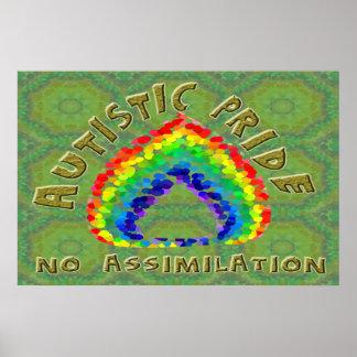 Autistic Pride No Assimilation Poster