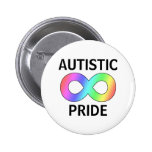 Autistic pride pinback button