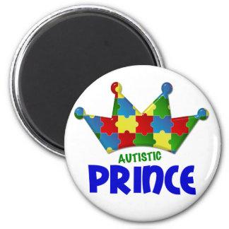 Autistic Prince 1 AUTISM 2 Inch Round Magnet