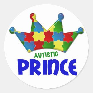 Autistic Prince 1 AUTISM Classic Round Sticker