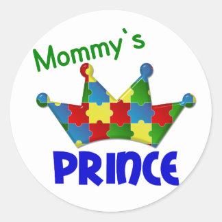 Autistic Prince 3 AUTISM Classic Round Sticker