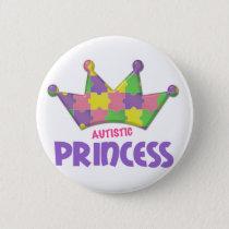 Autistic Princess 1 AUTISM Button