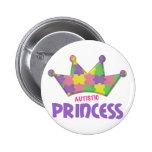 Autistic Princess 1 AUTISM Pinback Button