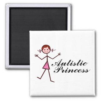 Autistic Princess (Girl) 2 Inch Square Magnet
