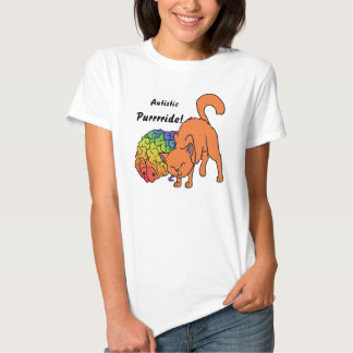Autistic Purrrride! (Autistic Pride) Tee Shirt