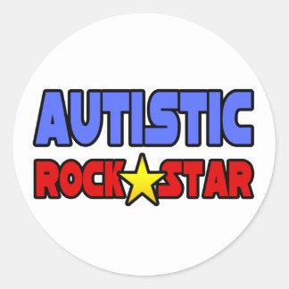 Autistic Rock Star Classic Round Sticker