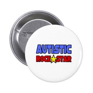 Autistic Rock Star Pinback Button