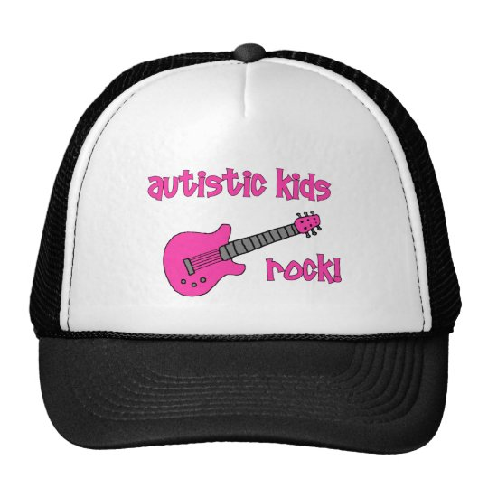 Autistic Rock with Guitar (multiple colors) Trucker Hat