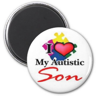 autistic son 2 inch round magnet