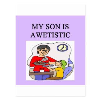 autistic son postcard
