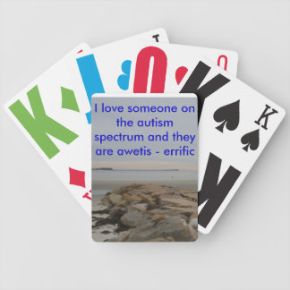 Autistic spectrum playing cards