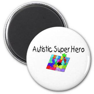 Autistic Super Hero 2 Inch Round Magnet