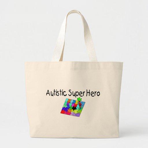 Autistic Super Hero Jumbo Tote Bag