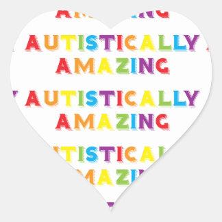 Autistically Amazing Heart Sticker