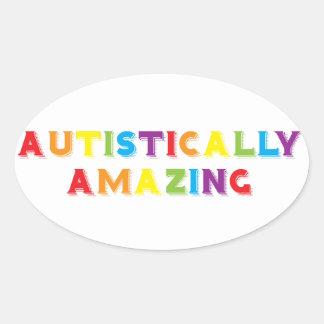 Autistically Amazing Oval Sticker