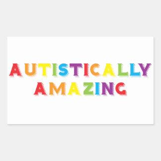 Autistically Amazing Rectangular Sticker