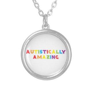 Autistically Amazing Round Pendant Necklace