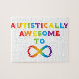 Autistically Awesome To Infinity Jigsaw Puzzle