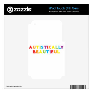 Autistically Beautiful iPod Touch 4G Decals