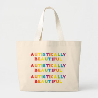 Autistically Beautiful Large Tote Bag